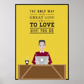 Póster Inspiración del trabajo