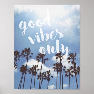 Poster inspirado de la cita de la buena playa de póster