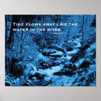 Poster inspirado de la cita del arroyo que fluye