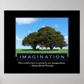 Poster inspirado de la imaginación