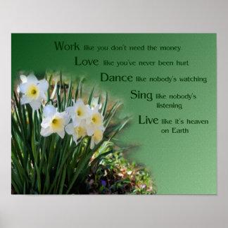 Poster inspirado de los narcisos de la danza del a
