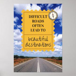 Poster inspirado del lema de la vida póster