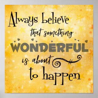 Póster Inspire: Crea siempre algo cita maravillosa