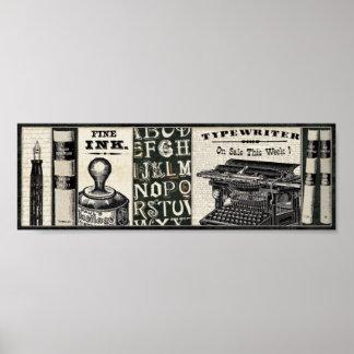 Póster Instrumentos viejos de la escritura
