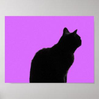 Póster Irina el gato en rosa
