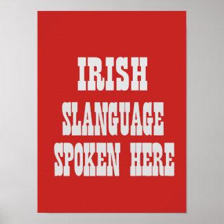 Poster irlandés del slanguage póster