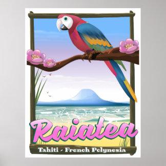 Póster Islas de sociedad de Raiatea, Tahití, Polinesia