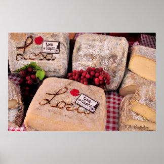 Poster italiano del queso