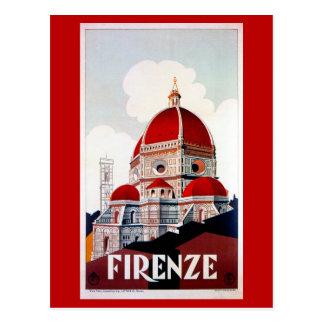 Poster italiano del viaje de Florencia del vintage Postal