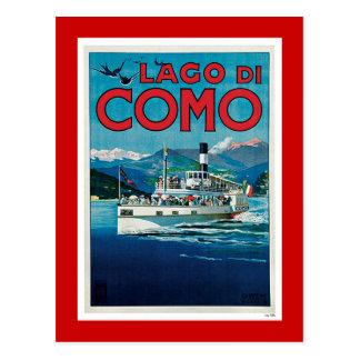 "Poster italiano del viaje del vintage de ""Lago di Postal"