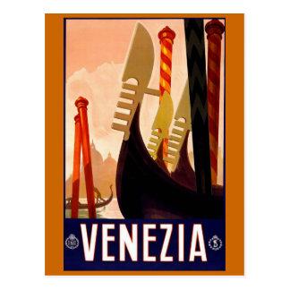 """Poster italiano del viaje del vintage de """"Venecia"""" Postal"""