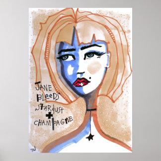 Póster Jane sangra Stardust y Champán