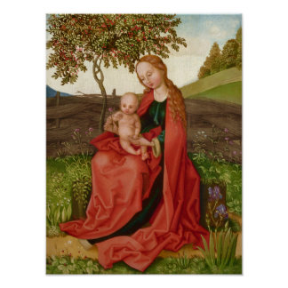 Póster Jardín de la Virgen y del niño de Martin