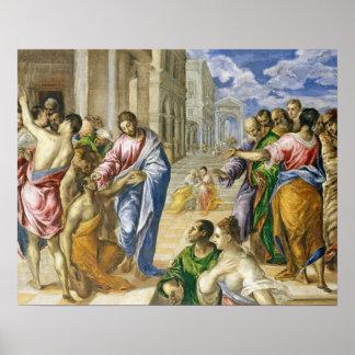 Póster Jesucristo que cura a las persianas