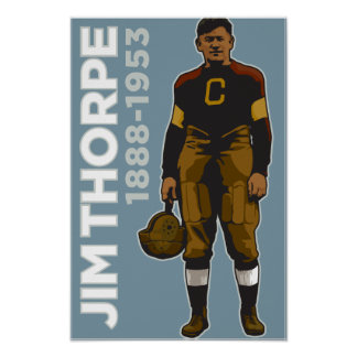 Póster Jim Thorpe, poster Todo-Americano