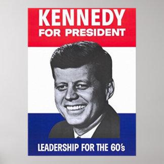 Póster John F. Kennedy para el presidente