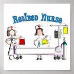 Poster jubilado de la enfermera (personalizable)
