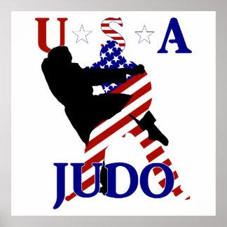 Póster Judo de los E.E.U.U.