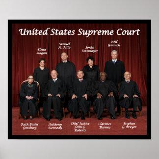 Póster Jueces del Tribunal Supremos de Estados Unidos