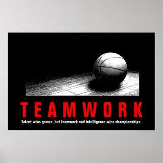 Póster Jugadores inspirados de la cita del baloncesto del