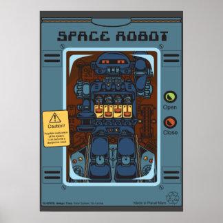 Póster Juguete de la caja del robot de espacio