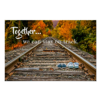 Póster Juntos podemos permanecer en pista
