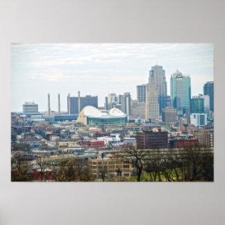 Póster Kansas City céntrico, Missouri, visión