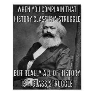 Póster Karl Marx y la lucha
