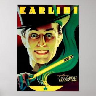 Póster Karlini -- Poster de la magia del vintage