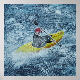 Poster kayaking de Whitewater Póster