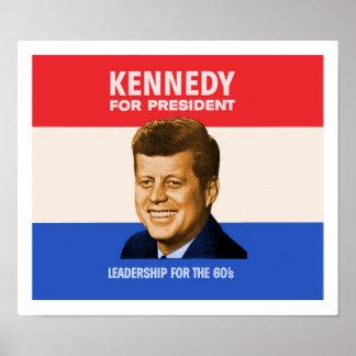 Póster Kennedy para el presidente