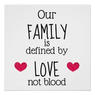 Póster La adopción de la sangre del amor define a nuestra