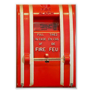 Poster la alarma de incendio