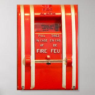 Poster la alarma de incendio póster