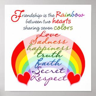 Póster La amistad es el arco iris BFF