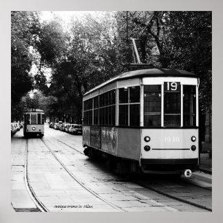 Póster La antigüedad viaja en tranvía el poster