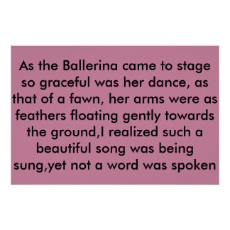 Póster la bailarina