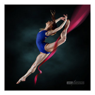 Póster La bailarina de Katya salta el Pin encima del