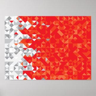 Póster La bandera abstracta de Bahrein, bahreiní colorea