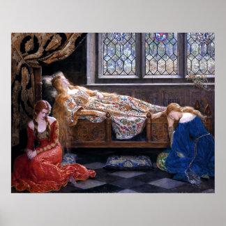Póster La bella durmiente del minero 1921 de Juan