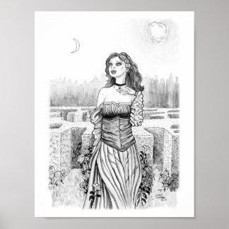 Póster La bruja del amante en jardín