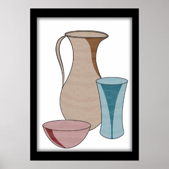 Póster La cerámica se coloca solamente en belleza