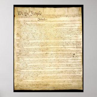 Póster La constitución de los E.E.U.U.