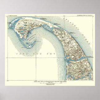 Póster La costa alinea el 10:8 de Provincetown Truro