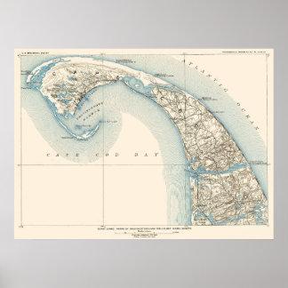 Póster La costa alinea Provincetown Truro y Wellfleet