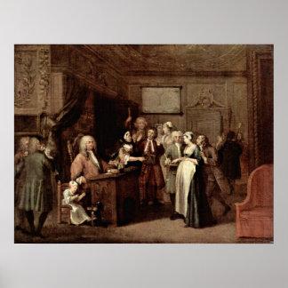 Póster La denuncia de William Hogarth