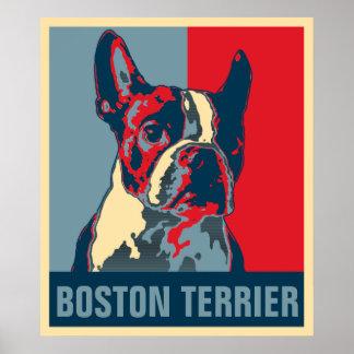 Póster La esperanza de Boston Terrier inspiró el poster