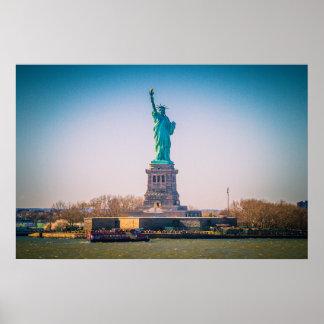 Póster La estatua de la libertad