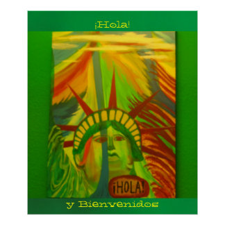 ¡Póster - La Estatua de la Libertad - ¡Hola