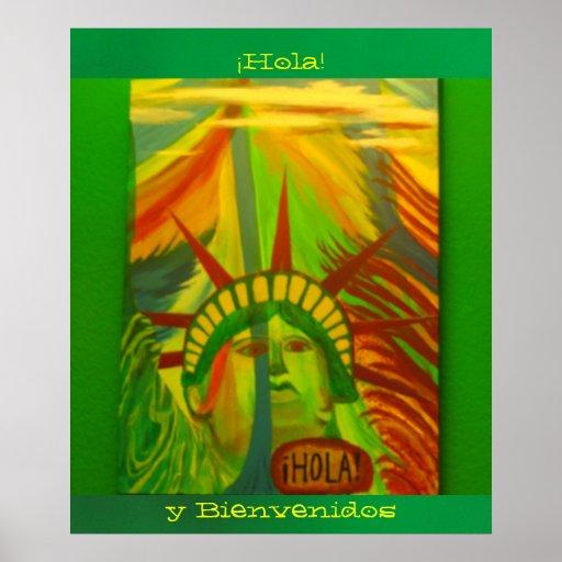 ¡Póster - La Estatua de la Libertad - ¡Hola! Posters